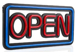 LED Neon Effect OPEN Sign